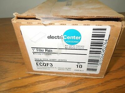 "50-ElectriCenter ECQF3 1"" Filler Plates for Siemens/Murray Products Surplus"