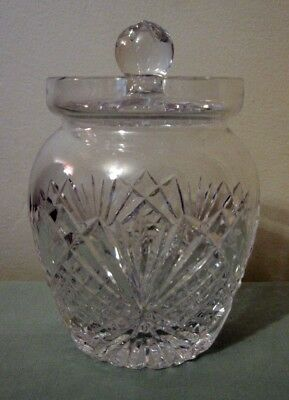 Tyrone crystal preserve / honey pot with lid, immaculate condition, 1st quality