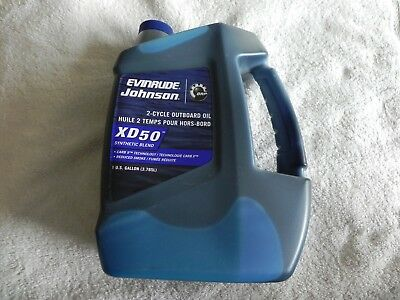 Evinrude Johnson Outboard 2 Cycle XD50 Synthetic Blend Oil Gallon Sz. P# 764354