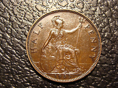 High Grade Glossy Brown 1933 United Kingdom Half Penny WE COMBINE ON SHIPPING