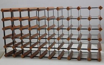 55/60  MAHOGANY  Bottle Timber Wine Rack  -Genuine BORDERS Product -