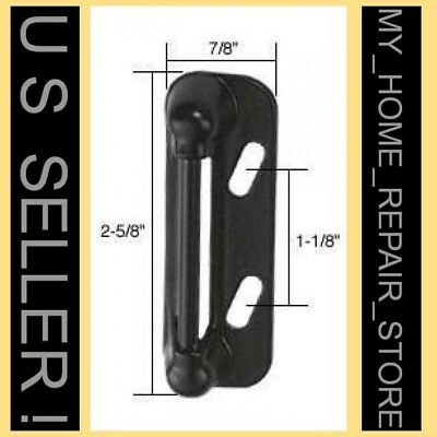 Free S&h!  Black Spring Loaded Catch Strike For Storm & Screen Door Latch Handle