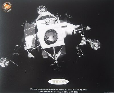 Apollo 13  'Flown Lunar Module Webbing Fragment'  Crew James Lovell Jack Swigert