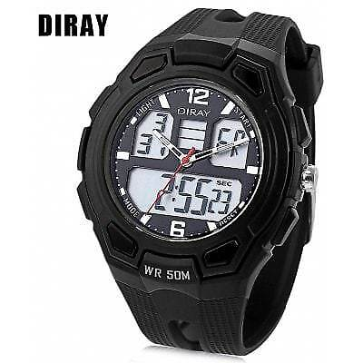 DIRAY DR - 302AD Children Dual Movt Watch-BLACK