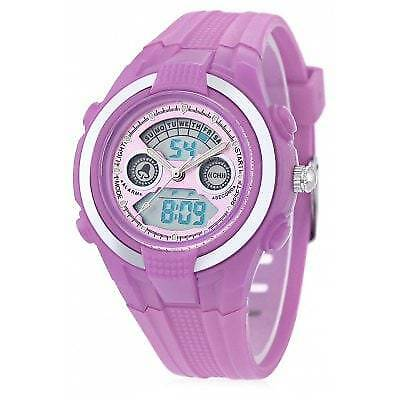 DIRAY DR - 211AD Children Dual Movt Watch-LIGHT PURPLE