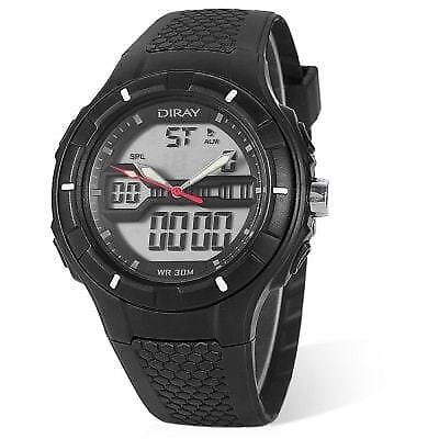 DIRAY DR - 333AD Children Dual Movt Watch-BLACK