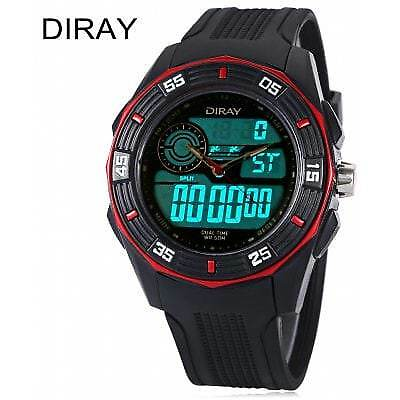 DIRAY DR - 301AD Children Dual Movt Watch-RED