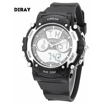 DIRAY DR - 330AD Children Dual Movt Sports Watch-SILVER