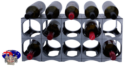 CellarStak Silver Plastic Wine Rack - 12/15 Bottles