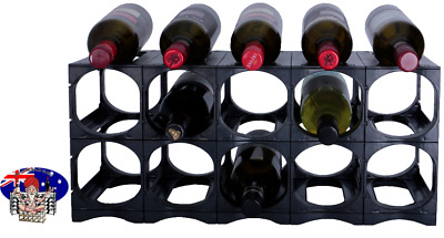 CellarStak BLACK  Plastic Wine Rack - 12/15 Bottles