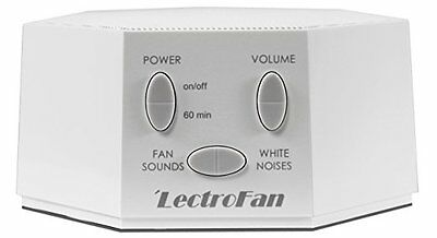 LectroFan Fan Sound White Noise Machine White Micro Unique Steady Best Sleep Now