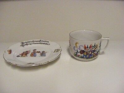 German Child's Plate and Tea Cup