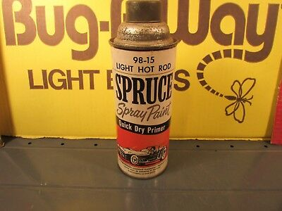 Vintage Spruce Light hot rod spray paint Metal cap 98-15 qick dry primer unused