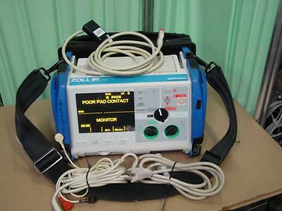 Zoll M Series Monitor 3 Lead BiPhasic ECG SpO2 Pacing aed Analyze  076
