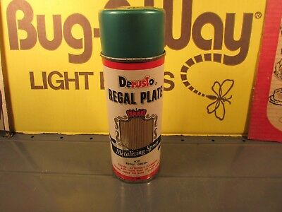Vintage metal cap spray paint Derusto Regal Green metalizing 620 unused