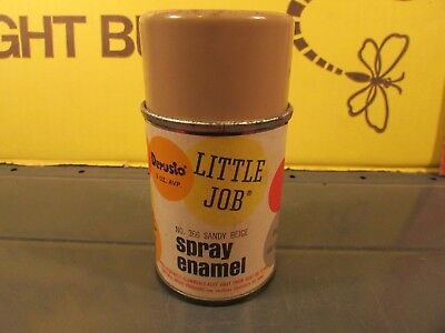 Vintage metal cap spray paint 3 oz AVP. 1964 Little job 366 Sandy Beige unused