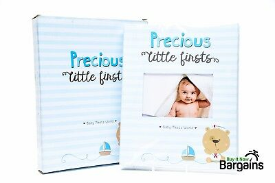 Baby Memory Book Photo Album 52 Thick 9 x 11.5 in Page 6 x 4 in Picture Boy