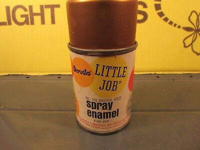 Vintage metal cap spray paint 3 oz AVP. 1964 Little job 359 Antique gold unused