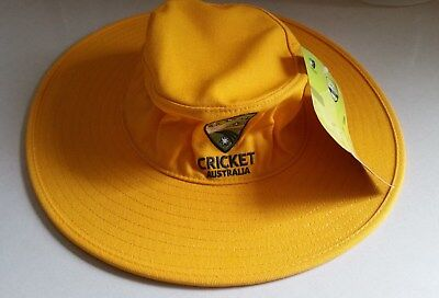 Brand New with tags Cricket Australia Gold Youth Wide Brim Hat