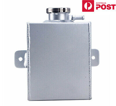Universal  1.2L Aluminum Radiator Coolant Overflow Tank Water Bottle AU