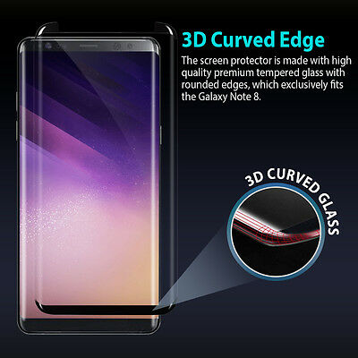 For Samsung Galaxy Note 8 Case Friendly Zuslab tempered Glass Screen Protector