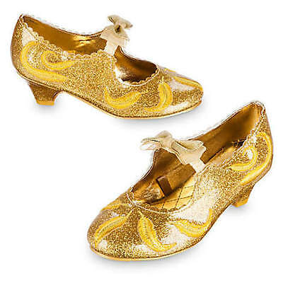 NWT Disney Store Belle Gold Deluxe Costume Shoes Live Action Film many Sizes