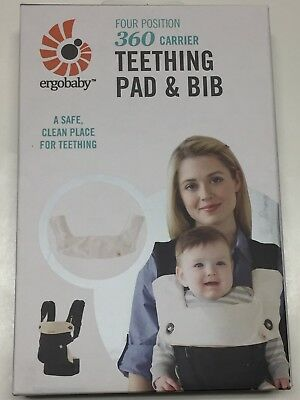 Ergobaby Teething Pad & Bib, Natural For Four Position 360 Carrier