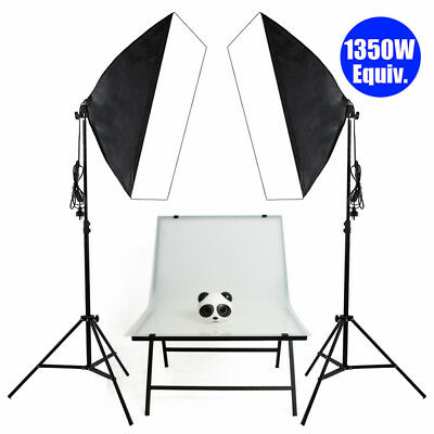 2x135W Photo Studio Softbox Continuous Lighting Kit +Easy Shooting Table Display