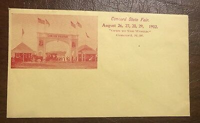 1902 Concord New Hampshire N.H State Fair Cover Envelope