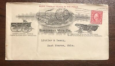 Birdsell Mfg. South Bend Indiana In. Cover Envelope