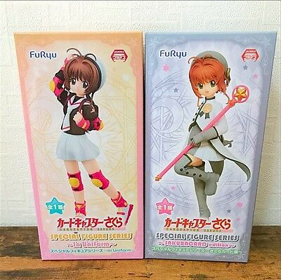 Cardcaptor Sakura Special Figure Series In Uniform & Sakura Card ed. Set FuRyu