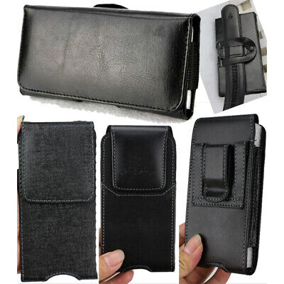 Leather Waist Hang Case Cover Belt Holster Clip Pouch Sleeve For Samsung S8