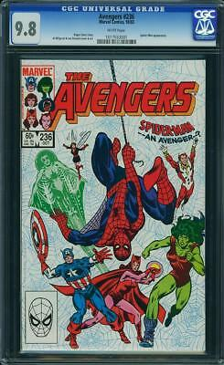 1983 Marvel THE AVENGERS # 236 CGC 9.8, Spider-Man An Avenger? White Pages!