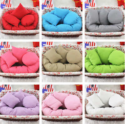 Newborn Baby Photography Basket Filler Wheat Cycle Ring Pillow Photo 4PCS/Set