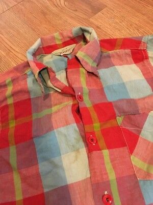 Vintage 1950's Penneys Sanforized Casual Shirt Chin Loop Sanforized Cotton