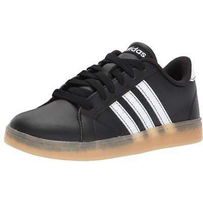 Adidas Baseline Black Leather Sneakers Youth Big Kids Sizes AH2243 NEW