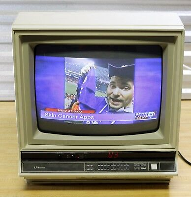 "Vtg 1980s Sears 13"" CRT RGB Monitor / TV -Classic Gaming -LXI Total Video System"
