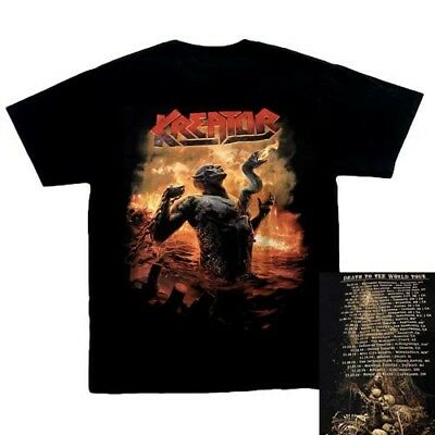 Kreator Death To The World 2014 Tour t Shirt, Black,100 % cotton, S, L, XL,2XL