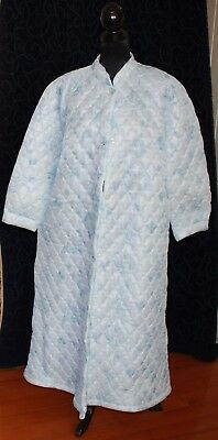 vintage 18-20 unused blue dressing gown bath robe quilted nylon Australian made