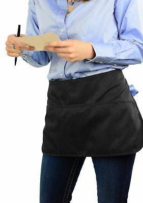Double sided 3 Pocket Waist Apron with Pen Holder | Waterproof Apron for Severs,