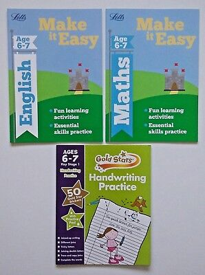 Letts Make it Easy English & Maths Ages 6-7 yrs (set of 3 workbooks) NEW!!!!