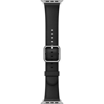 Authentic Genuine Apple Watch 42mm Classic Buckle Band Black Leather MPWR2AM/A