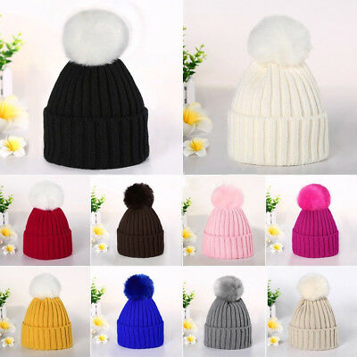 Toddler Kids Girls & Boys Baby Infant Winter Crochet Knit Hat Beanie Caps USA