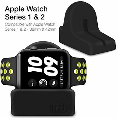 Orzly Night-Stand for Apple Watch - BLACK Support Stand with Slot for...