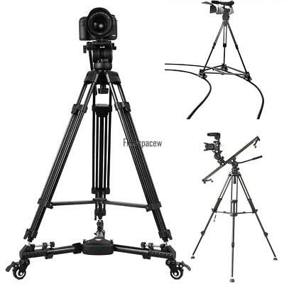 Professional Heavy Duty DSLR DV Video Camera Tripod W/ Hydraulic Head Kit W/ Bag