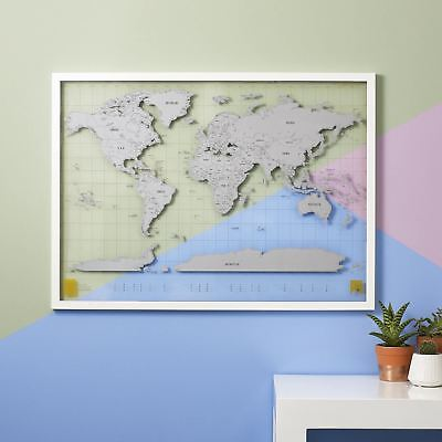 Scratch Map Clear Luckies Large Travel Scratch Off World Wall Map Acetate Poster
