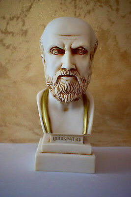 """Statue Hippocrates """"the Father Of Modern Medicine"""" Made Of Alabaster"""