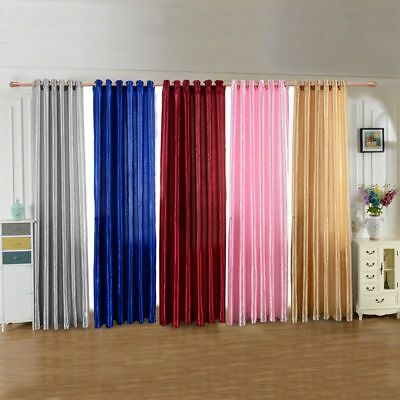 Room Blackout Darkening Curtains Window Panel Drapes Door Curtain for Bedroom
