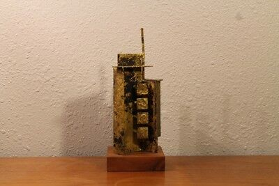 Rare Table / Desk Sculpture by Gaylord Ortman Mid Century Modern Brutalist 1960s