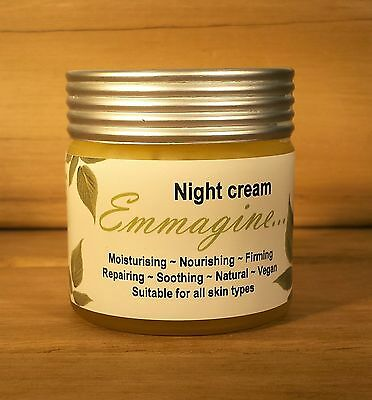 Emmagine Night Cream Organic Vegan 100% Natural 60g REFILL ONLY - Free Postage